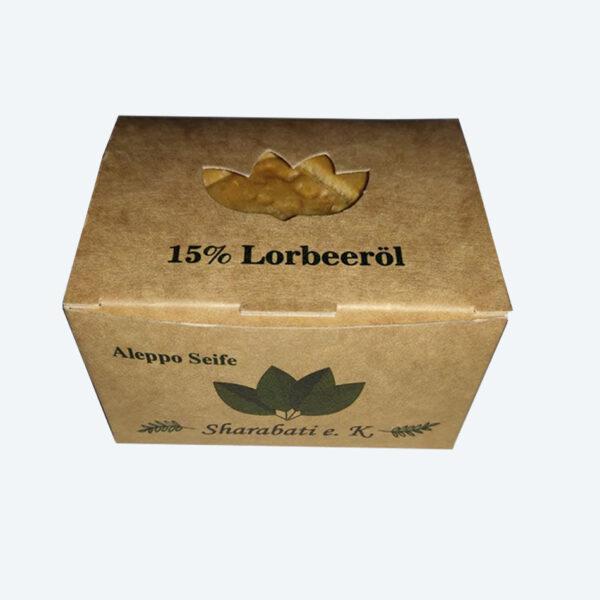 15% Lorbeeröl Original Aleppo Seife - Sharabati - Großhandel