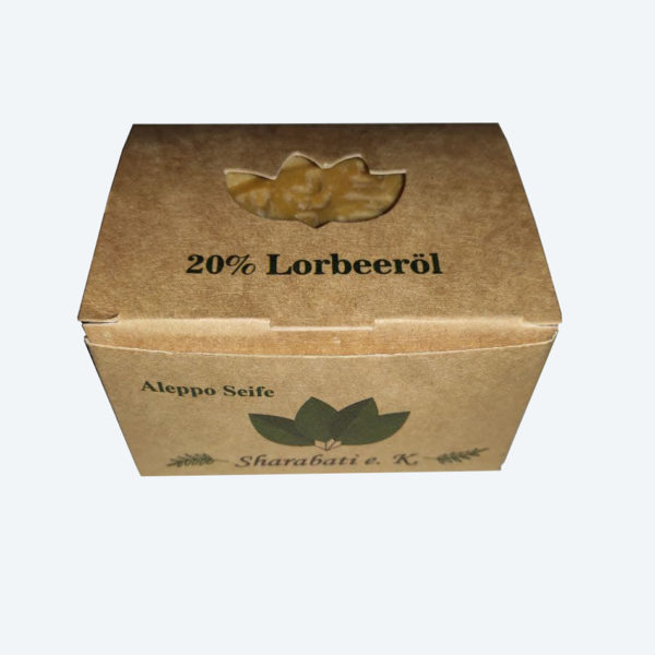 20% Lorbeeröl Original Aleppo Seife - Sharabati - Großhandel